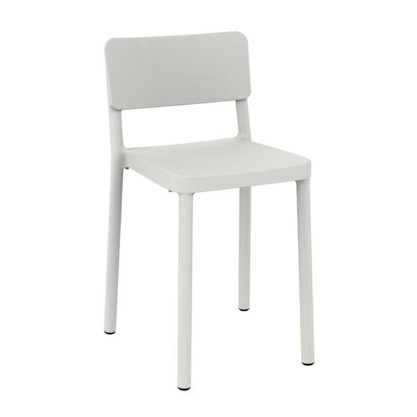 Sada 2 bílých barových židlí vhodných do exteriéru Resol Lisboa, výška 72,9 cm