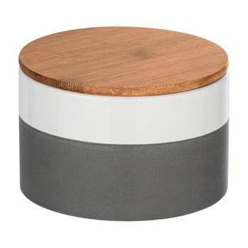 Cutie depozitare din ceramică cu capac din bambus Wenko Malta, 750 ml imagine