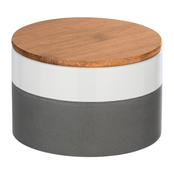 Ceramiczny pojemnik z bambusową pokrywką Wenko Malta, 750 ml
