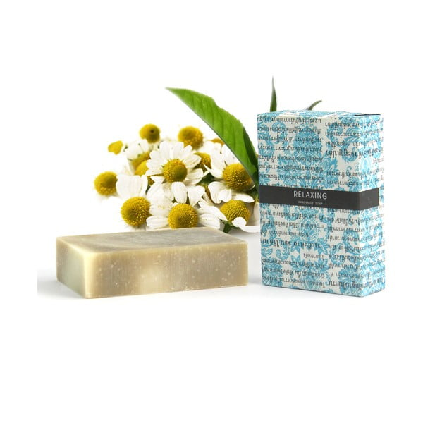 Relaxační přírodní mýdlo vůní heřmánku, tea tree a eukalyptu HF Living