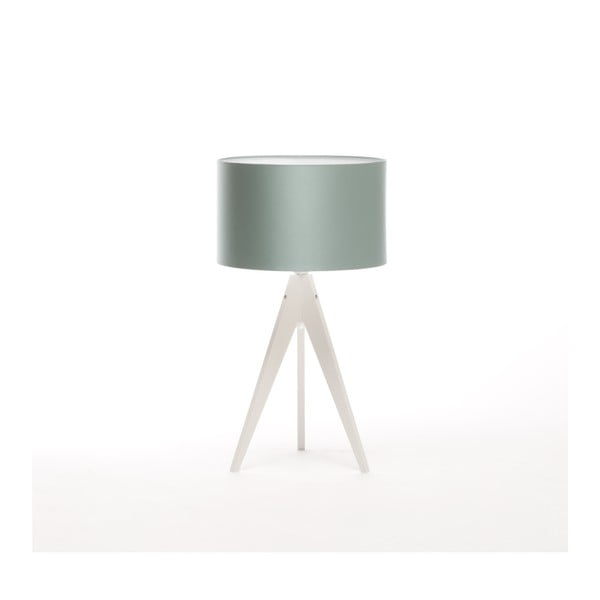 Ocelově modrá stolní lampa Artist, bílá lakovaná bříza, Ø 33 cm