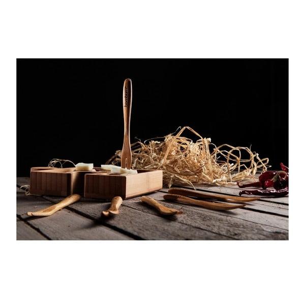 Set 6 mini furculițe din lemn de bambus Bambum Salsa