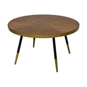 Konferenční stolek s deskou z ořechového dřeva RGE Facett, výška 45 cm