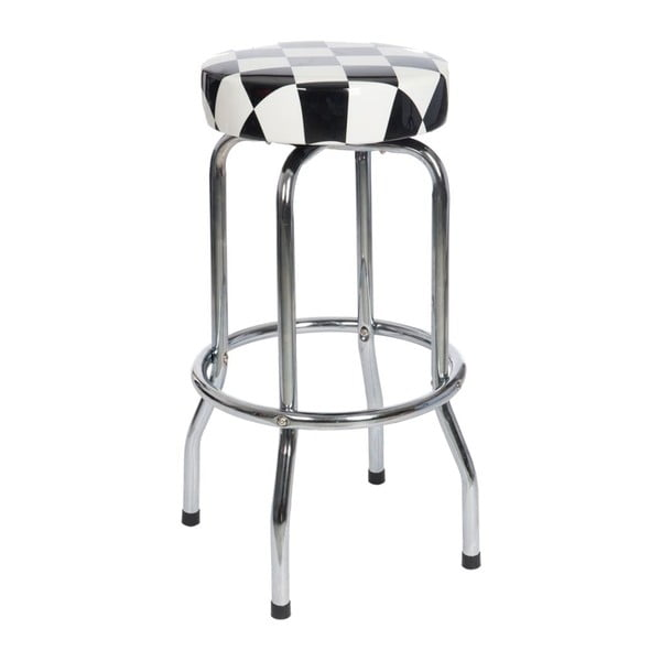 Stolička Bar Check Black, 50x50x74 cm