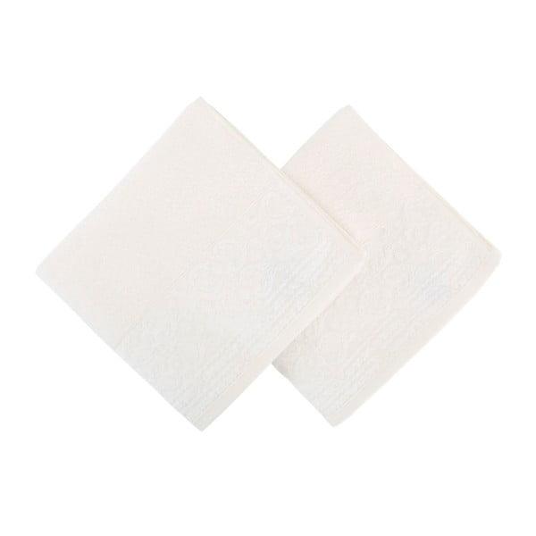 Sada 2 bielych uterákov Zarif, 50×90 cm