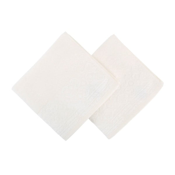 Set 2 prosoape Zarif, 50 x 90 cm, alb