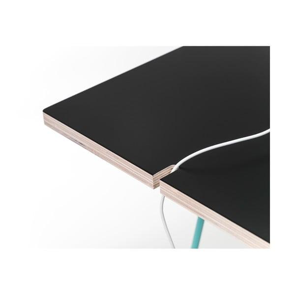 Černá deska k podnožím Master & Master Studio, 130x60cm