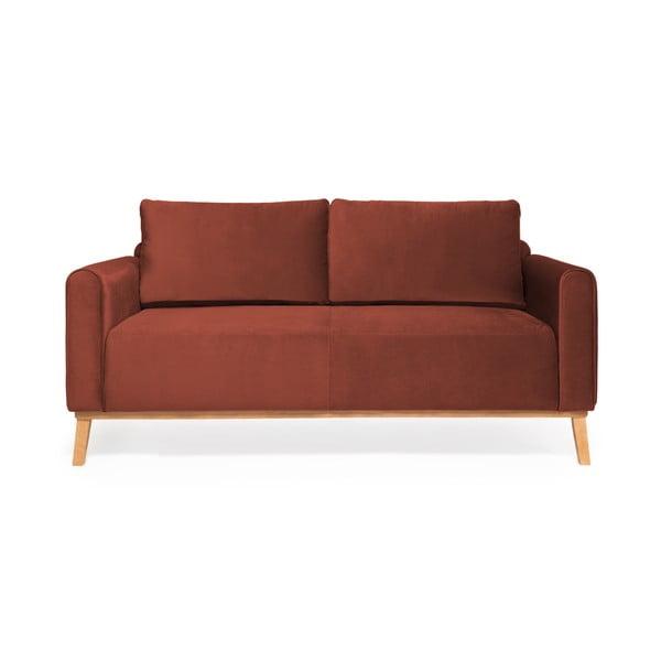 Bordowa sofa 3-osobowa Vivonita Milton Trend