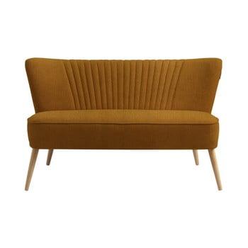 Canapea cu 2 locuri Custom Form Harry, galben muștar închis de la Custom Form