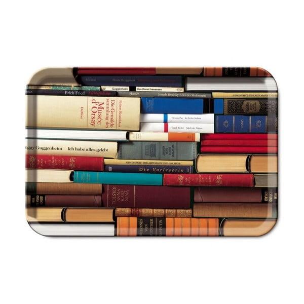 Servírovací tác Remember Bookworm, 45 x 29,5 cm
