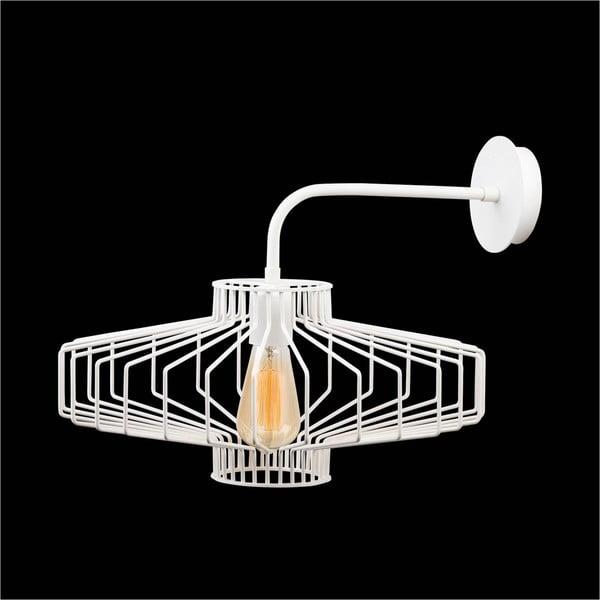 Bílá nástěnná lampa Large Diamond