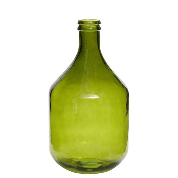 Velká skleněná lahev, zelená