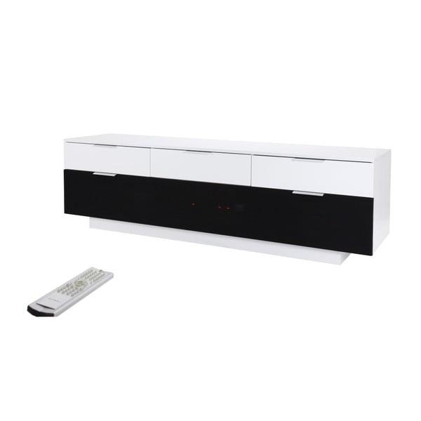 Bílý TV stolek Folke Carrera, délka180cm