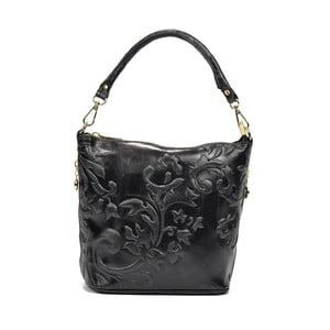 Černá kožená kabelka Renata Corsi Aurora