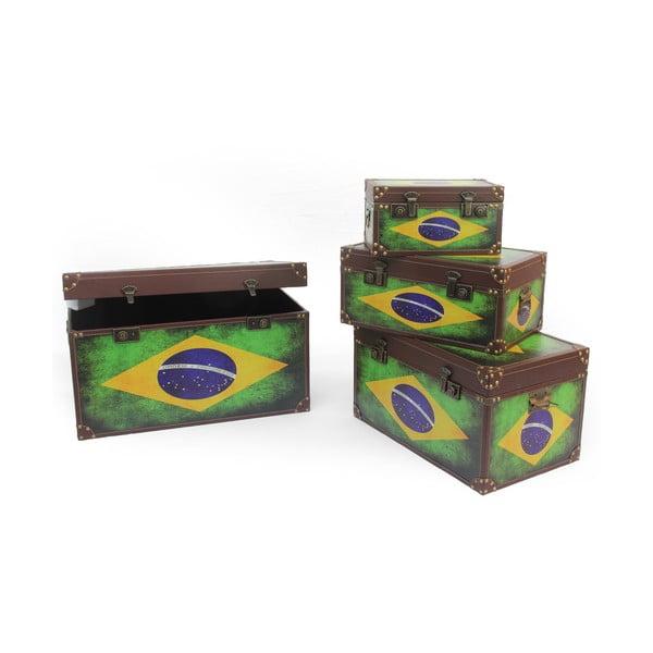 Sada 4 boxů Baule Brazil