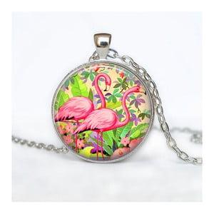 Dámský řetízek s přívěskem Butoni de Camasa Flamingo