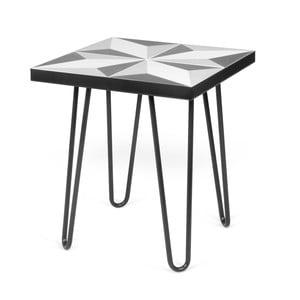 Černý příruční stolek TemaHome Arrow