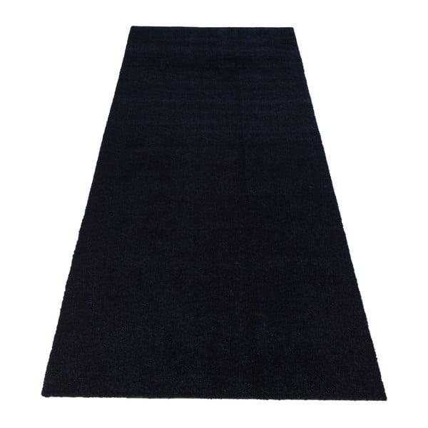 Tmavě modrá rohožka Tica Copenhagen Unicolor, 67x200cm