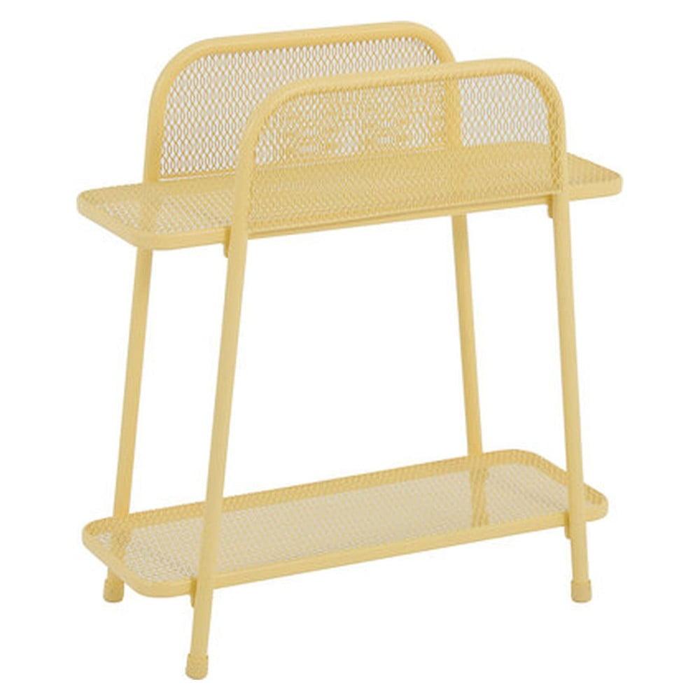 Žlutý kovový odkládací stolek nabalkon ADDU MWH, výška 70cm