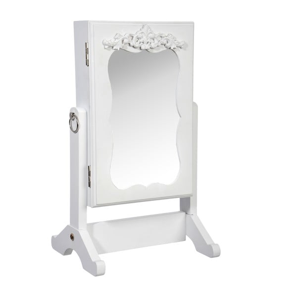 Zrcadlo se šperkovnicí White Jewel