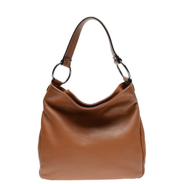 Hnedá kožená kabelka Renata Corsi