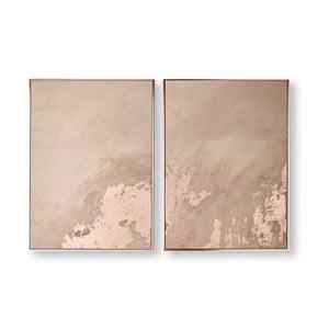 Sada 2 obrazů Graham & Brown Rose Gold Serenity, 60 x 80 cm