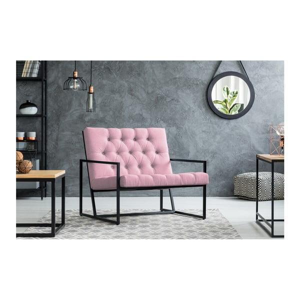 Světle růžové křeslo Mazzini Sofas Aster