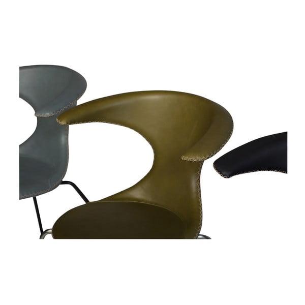 Šedá kožená židle DAN-FORM Denmark Flair