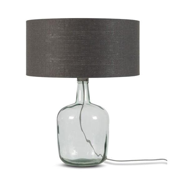 Stolní lampa s tmavě šedým stínidlem a konstrukcí z recyklovaného skla Good&Mojo Murano, ⌀47cm