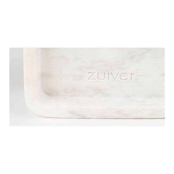 Ceas de perete din marmură Zuiver Luxury Time, alb