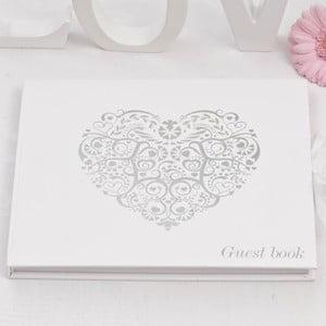 Carte de impresii pentru oaspeți Neviti Vintage Romance, alb