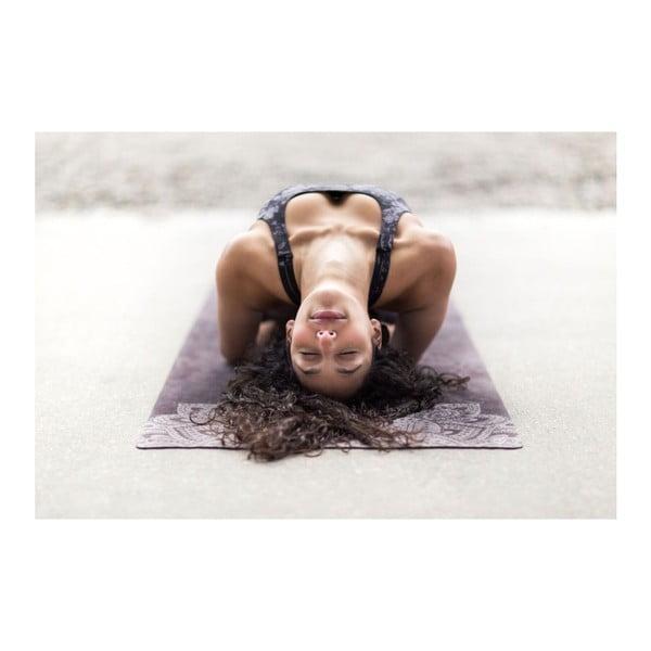 Černá podložka na jógu Yoga Design Lab Travel Mandala, 0,9kg