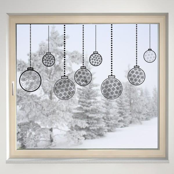 Elektrostatická samolepka Vánoční koule