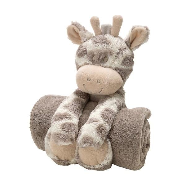 Plyšová kravička s dětskou dekou, 75x100 cm