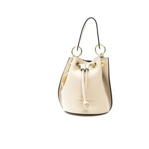 Béžová kožená kabelka f.e.v. by Francesca E. Versace Casma