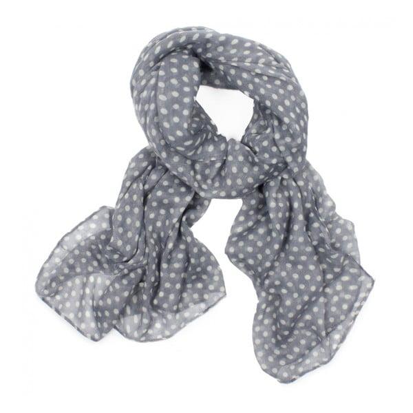 Šátek Polka Dot Pearl Grey