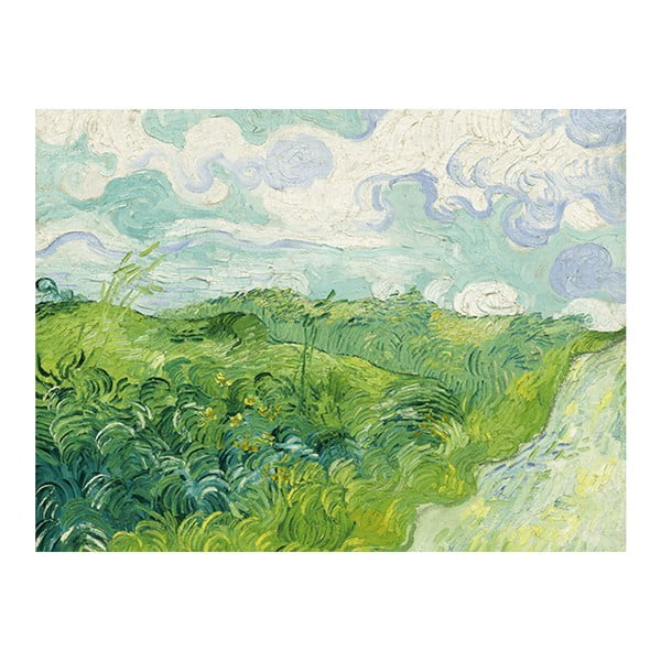 Obraz Vincenta van Gogha - Green Wheat Fields, 60x45 cm