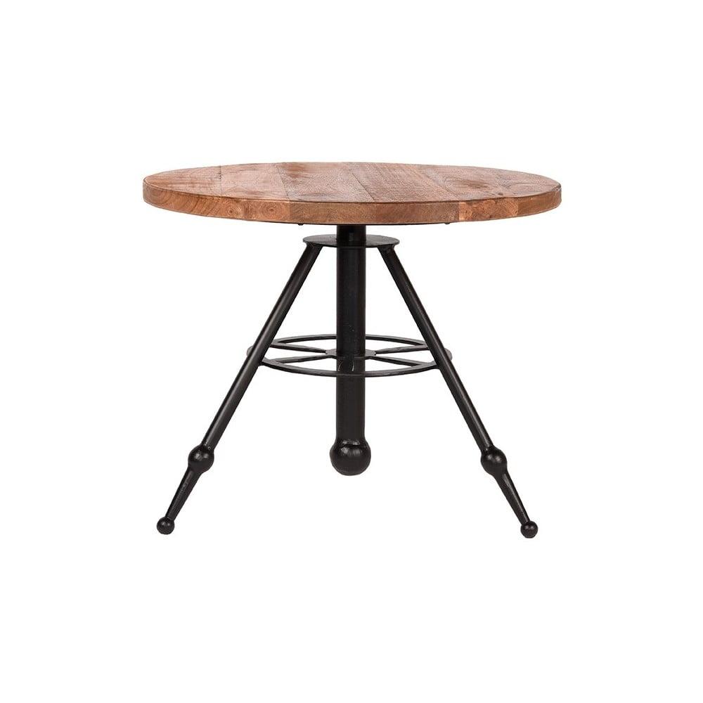 Odkládací stolek s deskou z mangového dřeva LABEL51 Solid, ⌀ 60 cm