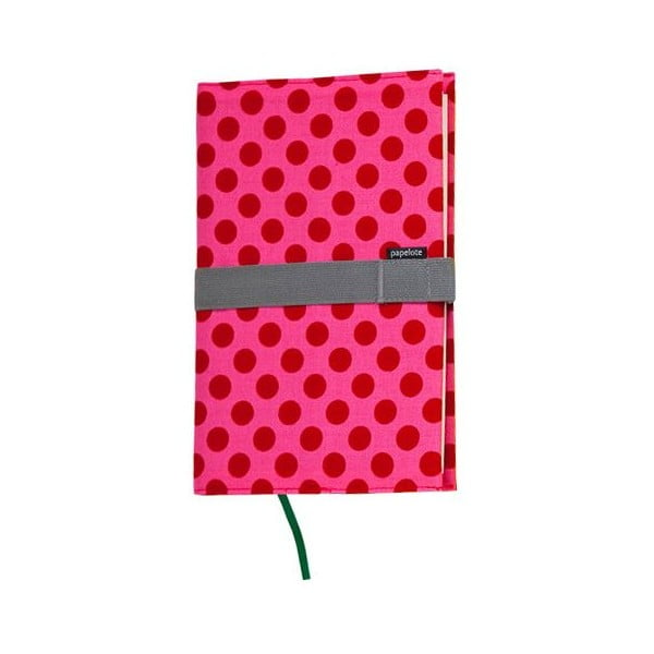 Cestovní deník B6, červený puntík, nelinkovaný