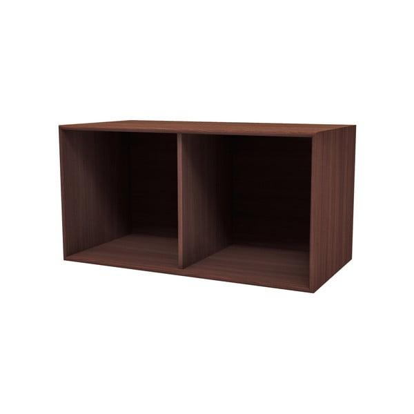 Tmavě hnědá nástěnná police WOOD AND VISION Choice, 76,8 x 39,7 x 25 cm