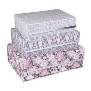 Sada 3 magnetických úložných boxů Tri-Coastal Design Vintage Love