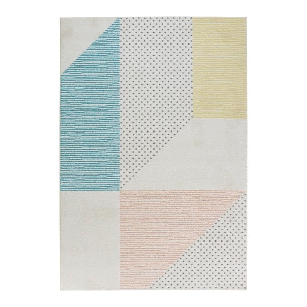 Covor Mint Rugs Madison, 120 x 170 cm, turcoaz - roz