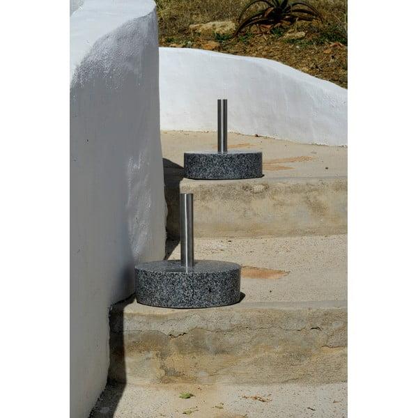 Žulový stojan na louč 20 cm, kulatý