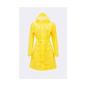 Žlutý dámský plášť s vysokou voděodolností Rains Curve Jacket, velikost L/XL
