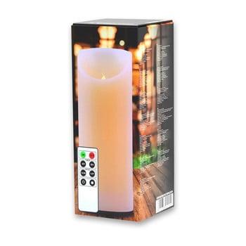Lumânare luminoasă cu telecomandă DecoKing Subtle, înălțime 20 cm de la DecoKing