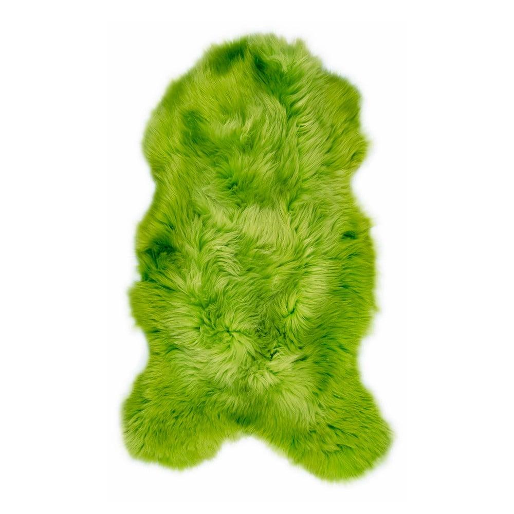 Zelená ovčí kožešina Swedo, 110 x 60 cm