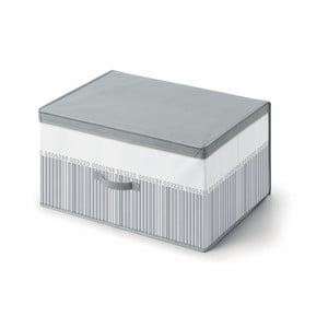 Šedo-bílý úložný box pod postel Cosatto Bright, 60 x 45 cm
