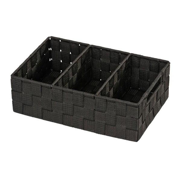 Černý koupelnový organizér Wenko Adria Mini Grip
