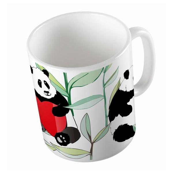 Keramický hrnek Panda With Bamboo, 330 ml