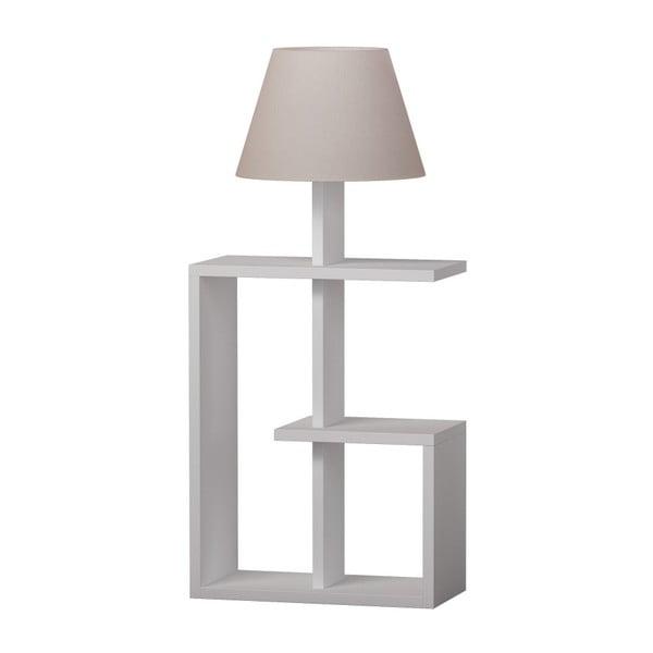 Bílá volně stojící lampa Homitis Saly